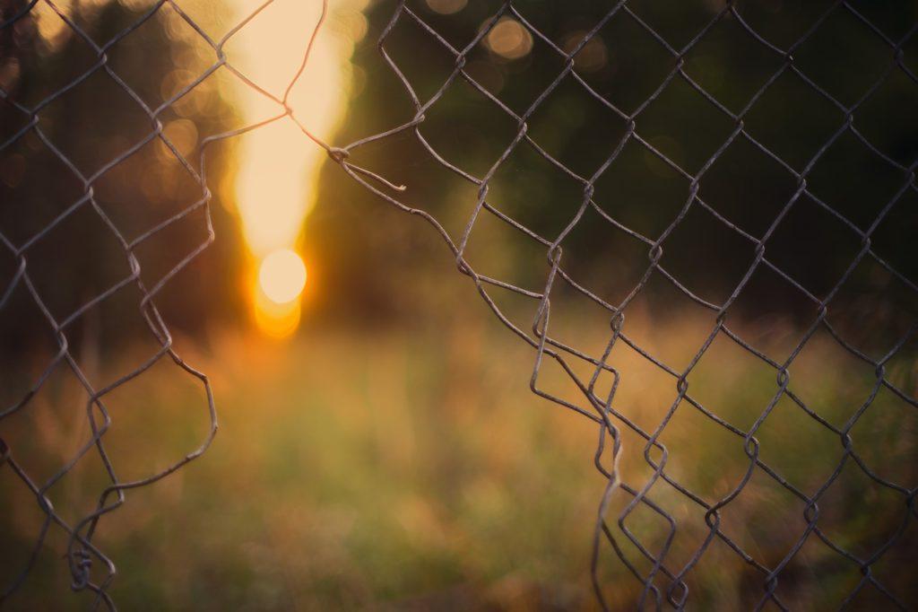 díra v plotě